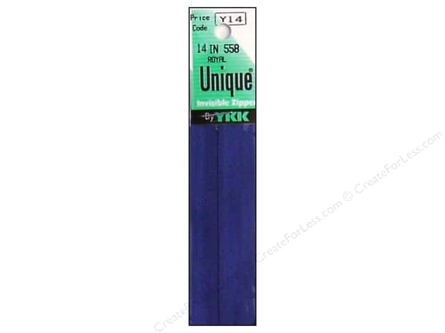 YKK Unique Invisible Zipper 14 in. Royal Blue