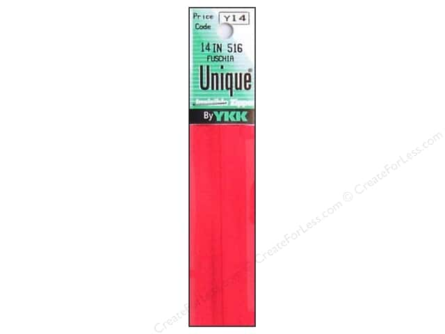 YKK Unique Invisible Zipper 14 in. Fuchsia