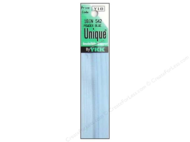 YKK Unique Invisible Zipper 18 in. Powder Blue