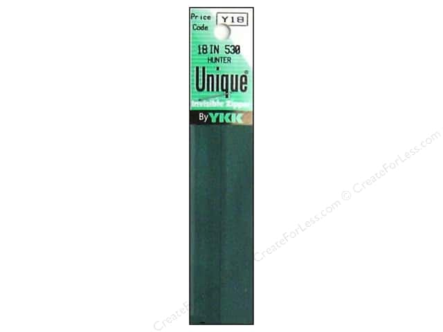 YKK Unique Invisible Zipper 18 in. Hunter Green