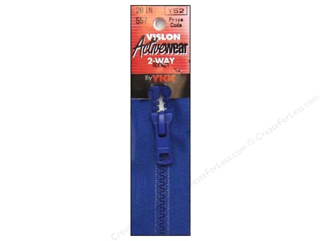 YKK Vislon 2-Way Separating Zipper 28 in. Rocket