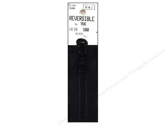 YKK Vislon Reversible Separating Zipper 18 in. Black