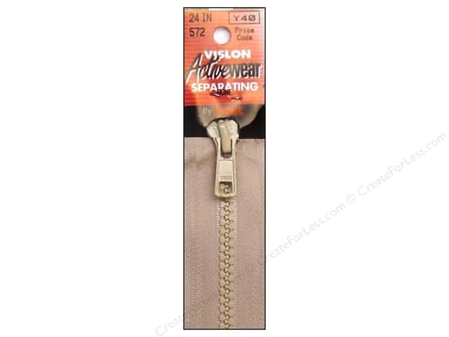 YKK Vislon Separating Zipper 24 in. Bone