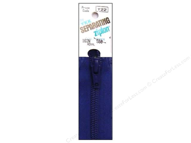 YKK Ziplon 1-Way Separating Zipper 16 in. Royal Blue