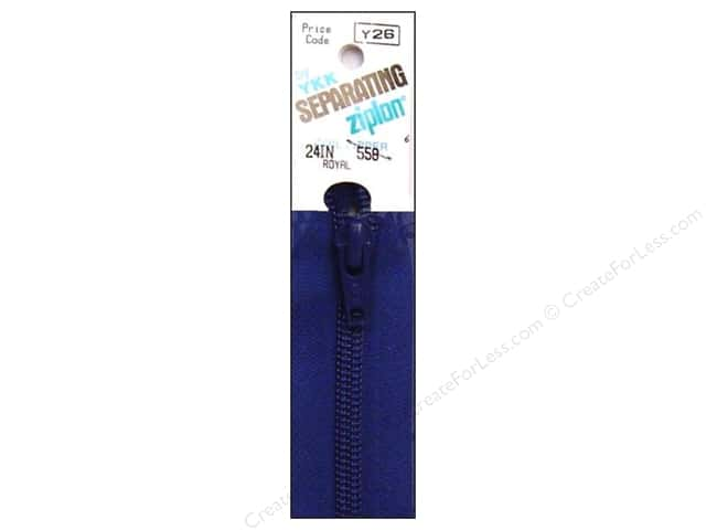 YKK Ziplon 1-Way Separating Zipper 24 in. Royal