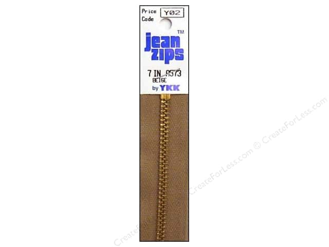 YKK #4.5 Brass Jean Zipper 7 in. #573 Beige