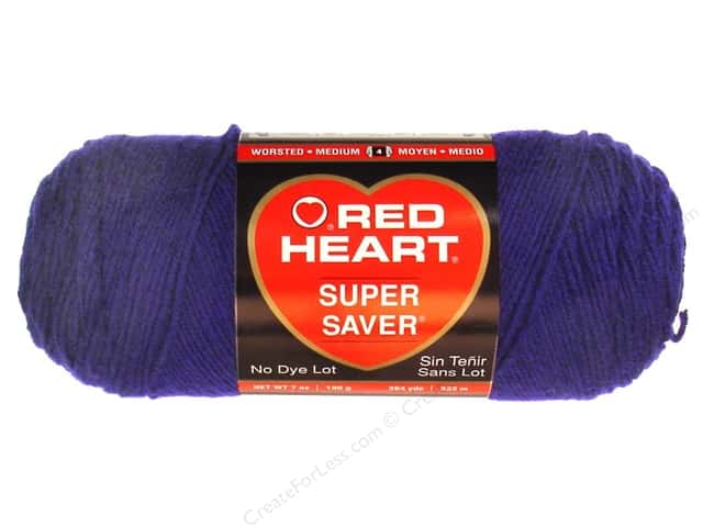 Red Heart Super Saver Yarn 364 yd. #0387 Soft Navy