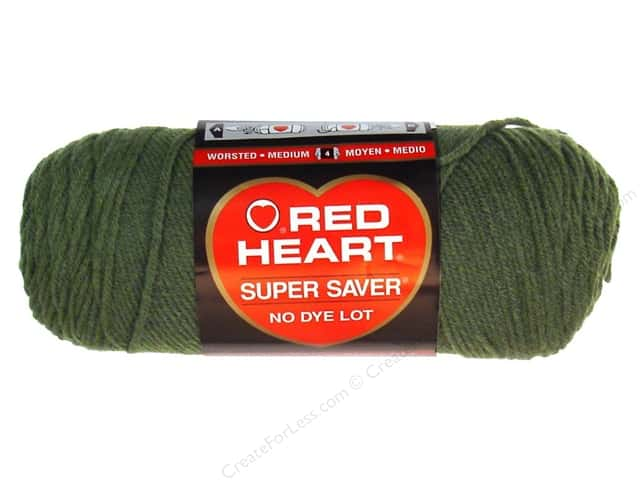 Red Heart Super Saver Yarn #0406 Medium Thyme 364 yd.