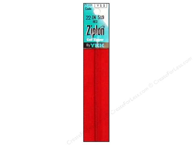 YKK Ziplon Coil Zipper 22 in. Red