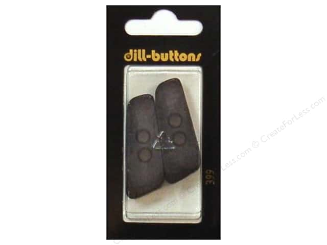 Dill 2 Hole Buttons 1 9/16 in. Black #399 2pc.