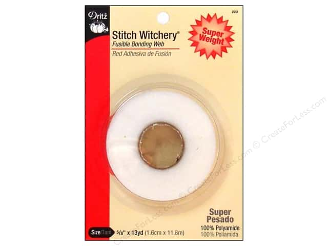Stitch Witchery Fusible Bonding Web by Dritz Super Weight 5/8 in. x 13 yd.