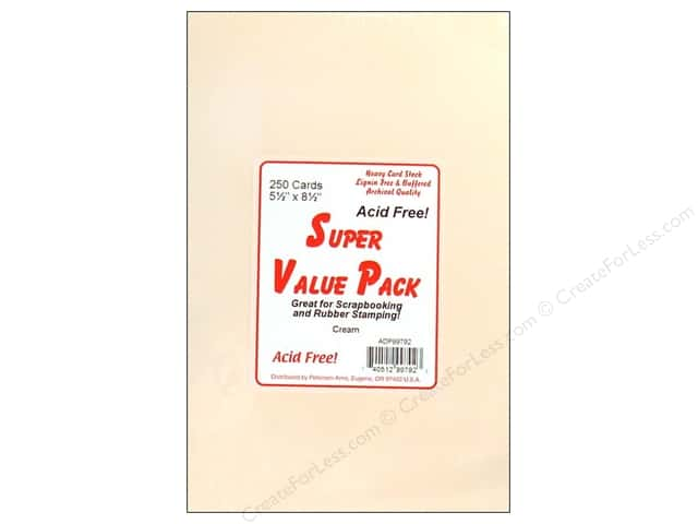 Paper Accents Super Value Card Packs 4 1/4 x 5 1/2 in. Cream 250 pc.