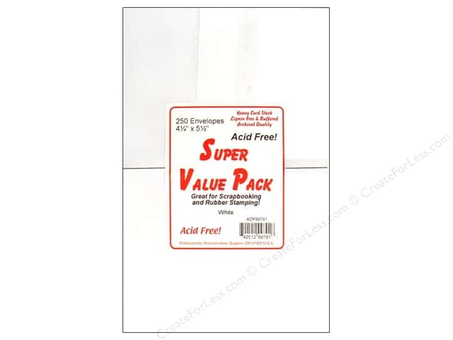 4 1/4 x 5 1/2 in. Envelopes by Paper Accents 250 pc. White