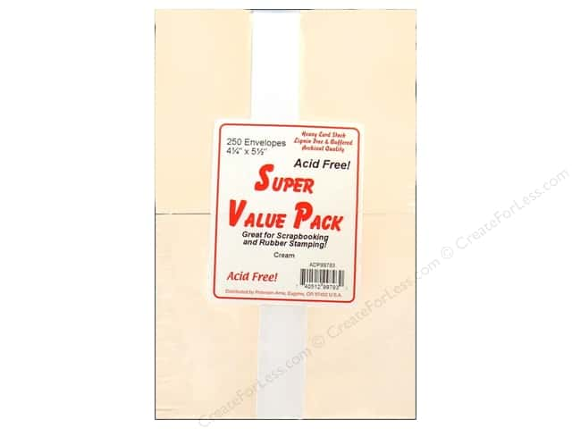 4 1/4 x 5 1/2 in. Envelopes by Paper Accents 250 pc. Cream