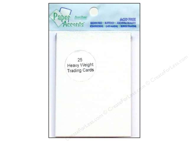 Trading Cards by Paper Accents 2 1/2 x 3 1/2 in. White 25 pc.