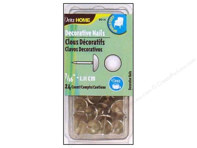 Dritz Decorative Nails 7/16 in. Round Smooth Nickel 24 pc.