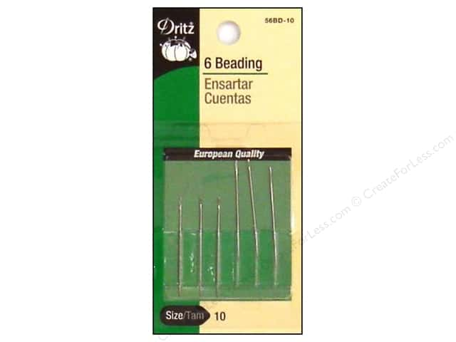 Dritz Beading Needles Size 10 6 pc.
