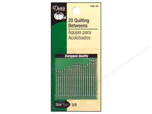 Quilting Betweens by Dritz Size 3/9 20pc