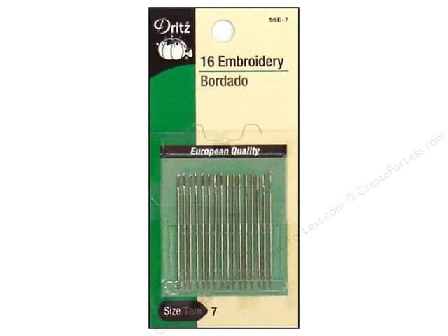 Embroidery Needles by Dritz Size 7 16pc