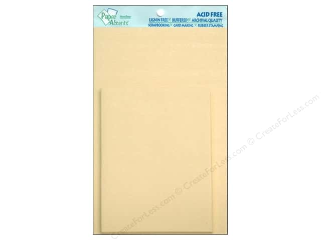 4 1/4 x 5 1/2 in. Blank Card & Envelopes by Paper Accents 10 pc. Pearlized Cream