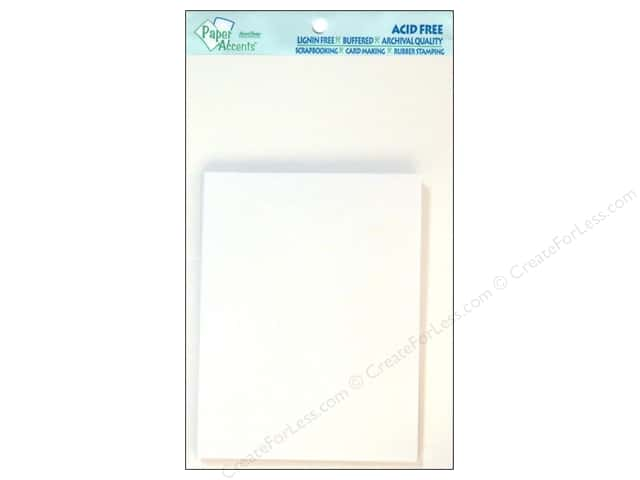 4 1/4 x 5 1/2 in. Blank Card & Envelopes by Paper Accents 10 pc. Glossy White