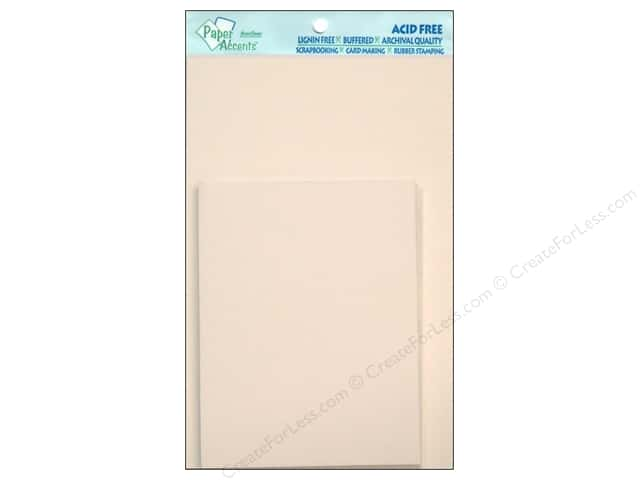 4 1/4 x 5 1/2 in. Blank Card & Envelopes by Paper Accents 10 pc. Linen White