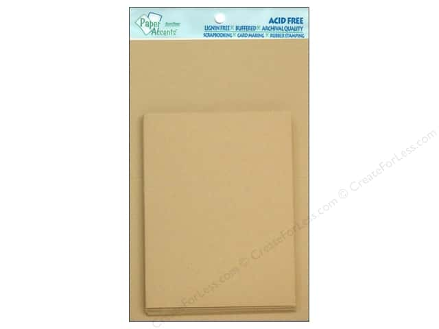 4 1/4  x 5 1/2 in. Blank Card & Envelopes by Paper Accents 10 pc. #304 Kraft