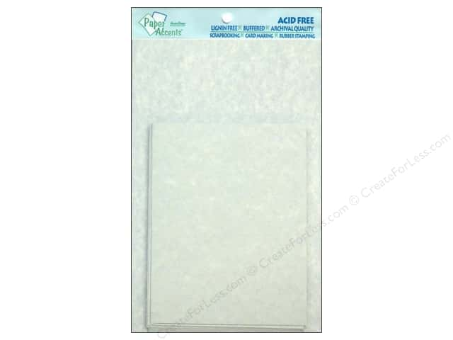 4 1/4 x 5 1/2 in. Blank Card & Envelopes by Paper Accents 10 pc. Blue Parchment