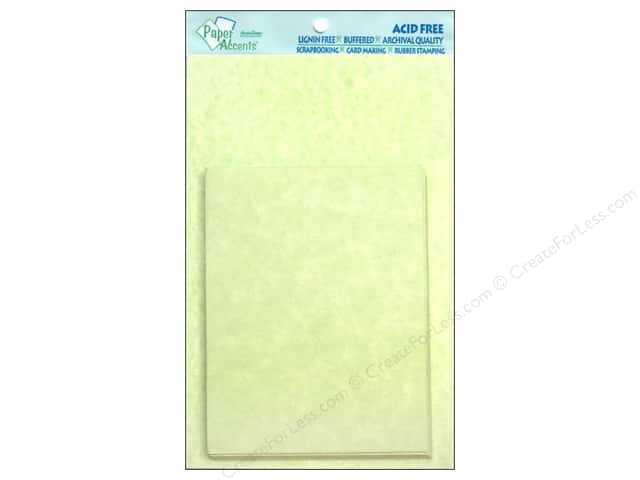 4 1/4 x 5 1/2 in. Blank Card & Envelopes by Paper Accents 10 pc. Green Parchment