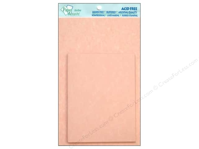 4 1/4 x 5 1/2 in. Blank Card & Envelopes by Paper Accents 10 pc. Pink Parchment