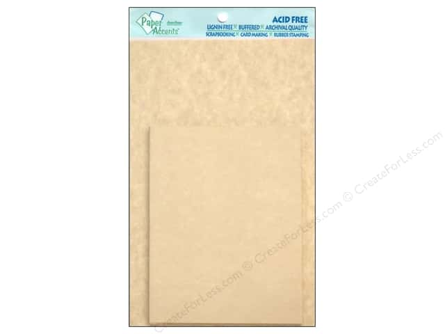 4 1/4 x 5 1/2 in. Blank Card & Envelopes by Paper Accents 10 pc. Natural Parchment