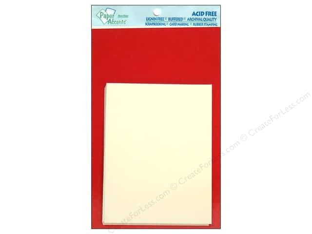 4 1/4 x 5 1/2 in. Blank Card & Envelopes by Paper Accents 10 pc. Dark Red/Cream