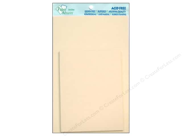 4 1/4 x 5 1/2 in. Blank Card & Envelopes by Paper Accents 10 pc. Cream