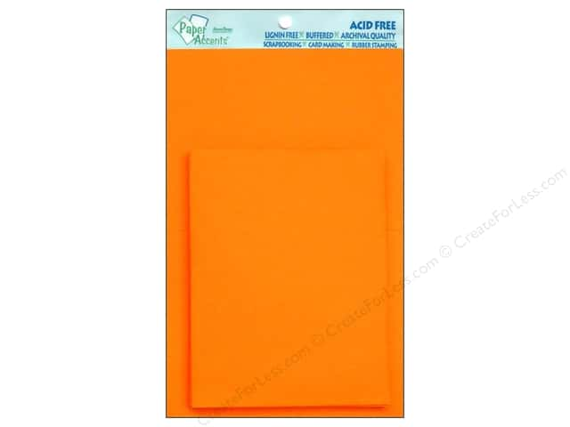 4 1/4 x 5 1/2 in. Blank Card & Envelopes by Paper Accents 10 pc. Orange