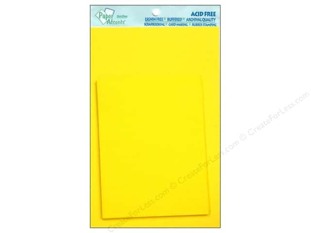 4 1/4 x 5 1/2 in. Blank Card & Envelopes by Paper Accents 10 pc. CanaryYellow