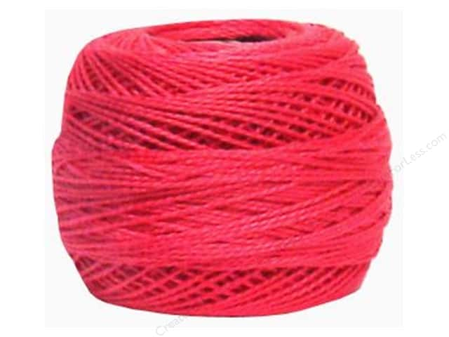 DMC Pearl Cotton Ball Size 8 #602 Medium Cranberry (10 balls)