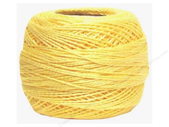 DMC Pearl Cotton Ball Size 8 #745 Light Pale Yellow (10 balls)