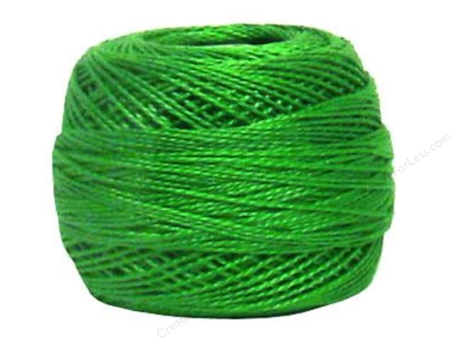 DMC Pearl Cotton Ball Size 8 #702 Kelly Green (10 balls)