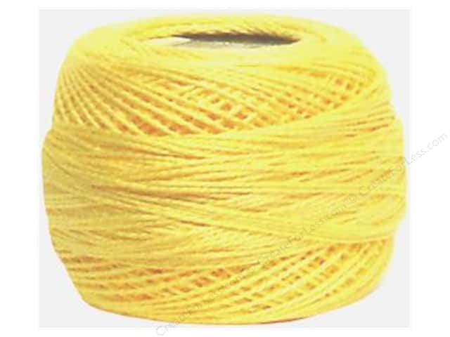 DMC Pearl Cotton Ball Size 8 #727 Very Light Topaz (10 balls)