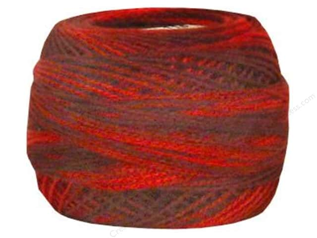 DMC Pearl Cotton Ball Size 8 #0115 Variegated Garnet