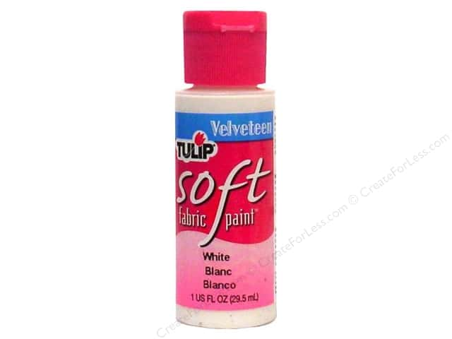 Tulip Soft Fabric Paint 1oz Velveteen White
