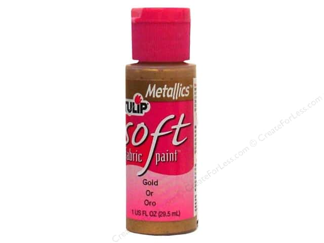 Tulip Soft Fabric Paint 1oz Metallic Gold
