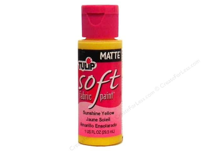 Tulip Soft Fabric Paint 1oz Matte Sunshine Yellow