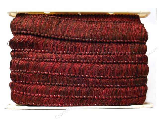 "Conso Chocolat Loop Fringe 2"" Raspberry Truffle (12 yards)"