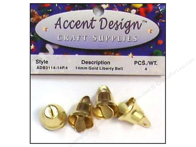 Accent Design Liberty Bell 9/16 in. 4 pc. Gold