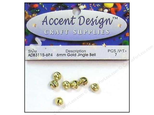 Jingle Bells by Accent Design 1/4 in. 7 pc. Gold