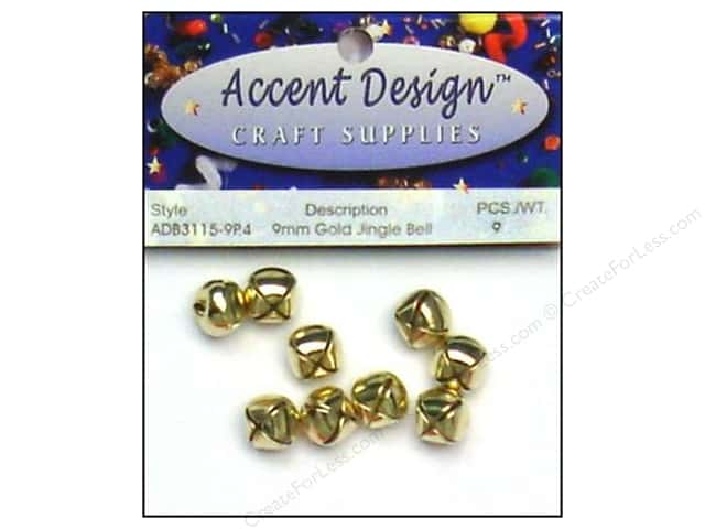 Jingle Bells by Accent Design 3/8 in. 9 pc. Gold