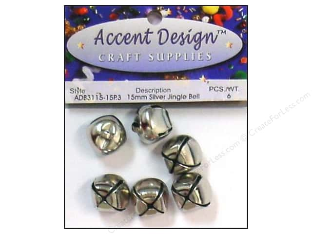 Jingle Bells by Accent Design 5/8 in. 5 pc. Silver
