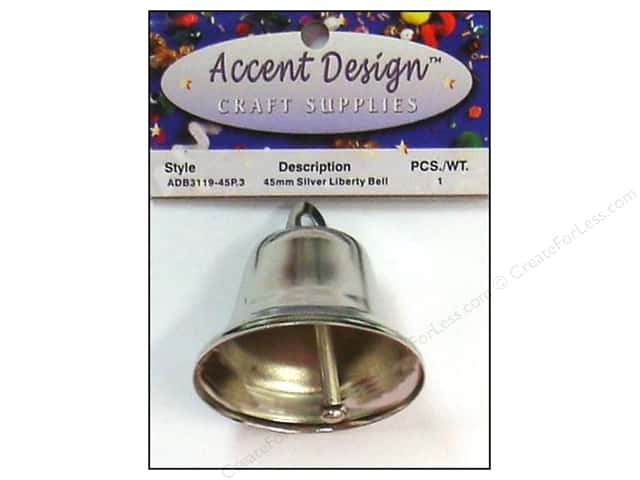 Accent Design Liberty Bell 1 3/4 in. 1 pc. Silver