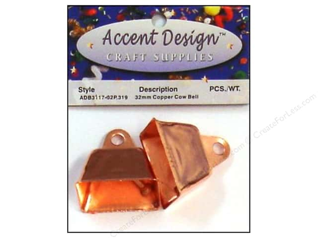 Accent Design Cow Bell 32 mm 2 pc Copper